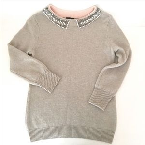 Jcrew collection embellished cashmere sweater